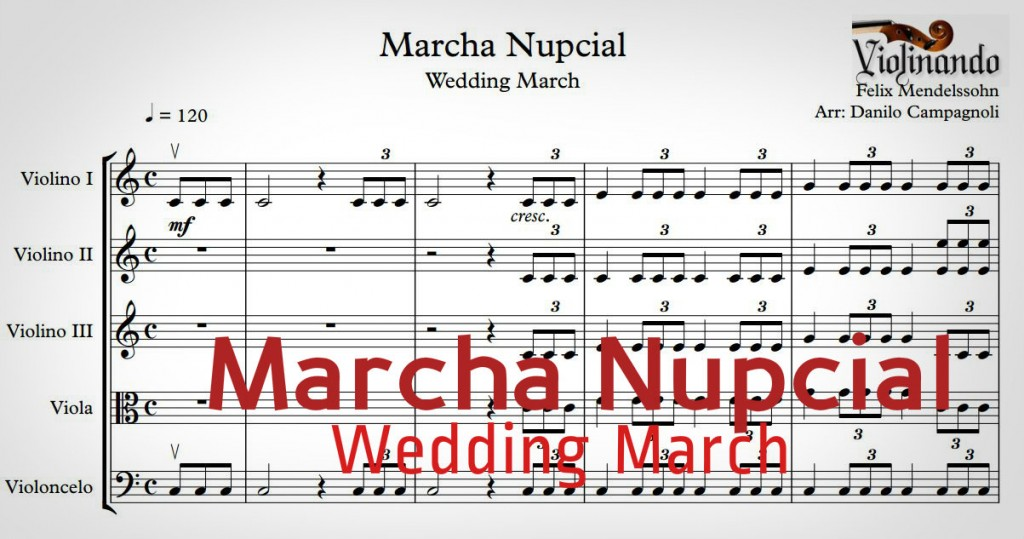 Marcha Nupcial Wedding March Partitura Music Sheet