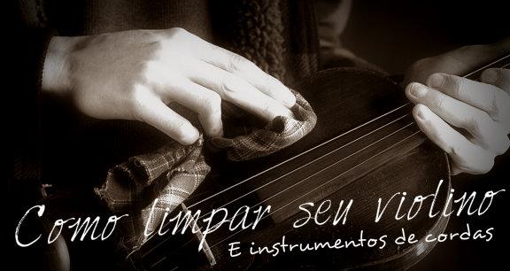 Capa limpar violino