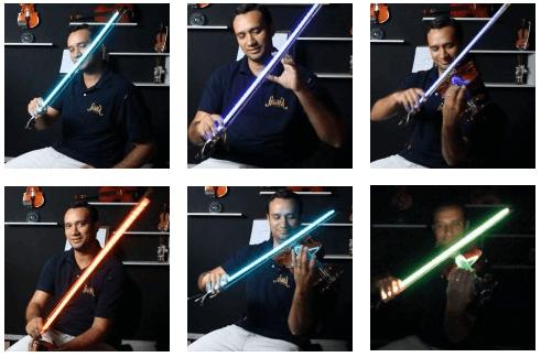 Efeitos luzes barra LED para arco